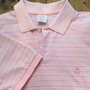 Brooks Brothers Men's Performance Polo Pink